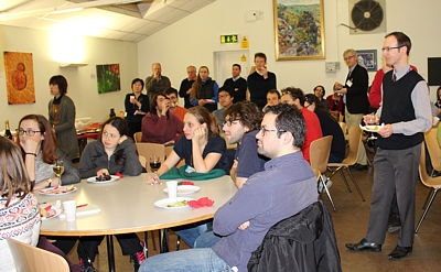 Department staff and students listening to the speeches
