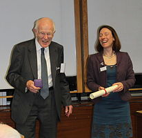Prof Davidson and Claudia Flavell-While