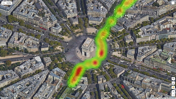 Raw road quality data from Paris
