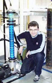 Alasdair Campbell by his rig
