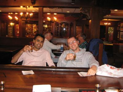 Damien and Amit relaxing at the conference