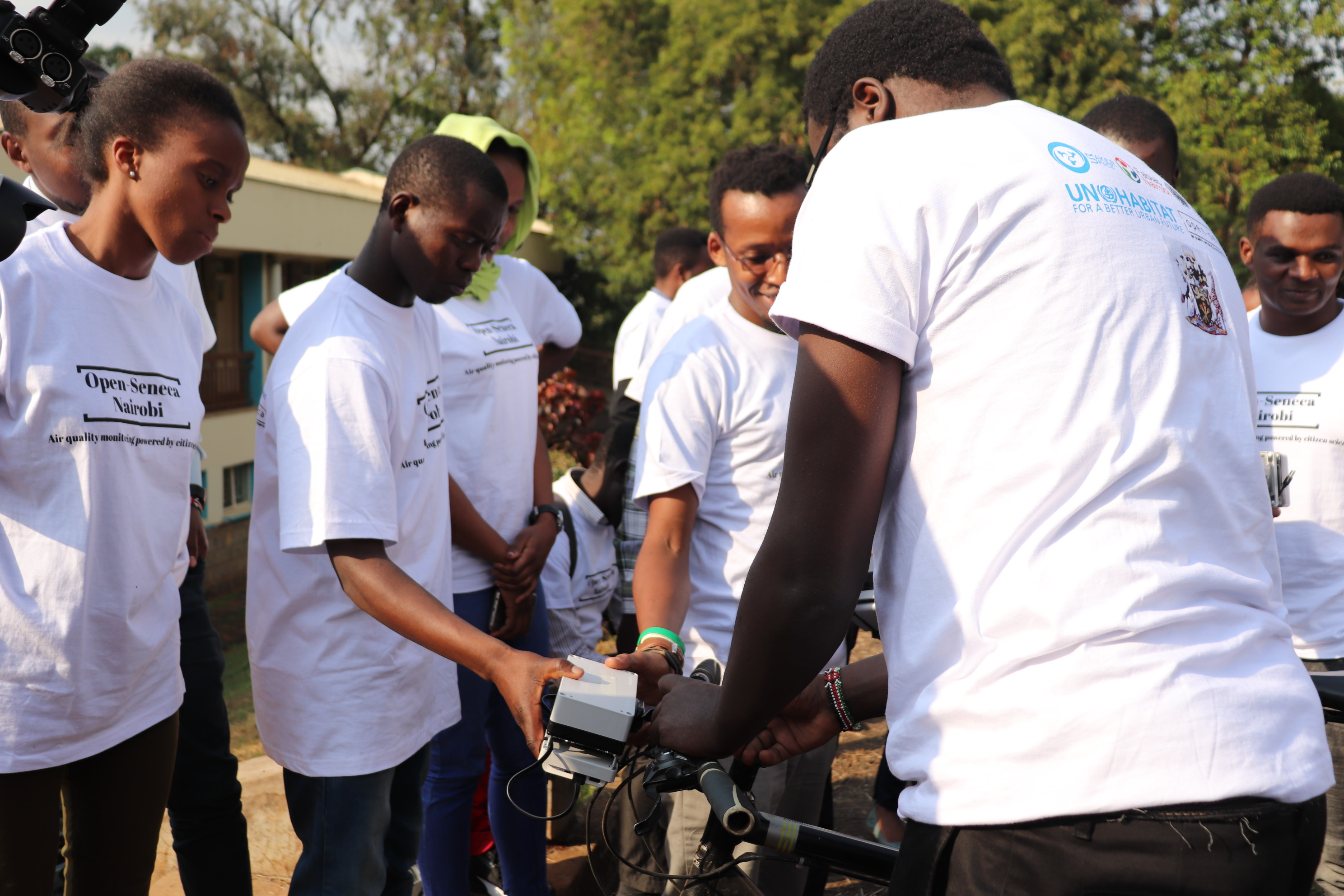 Attaching air quality sensors to bikes in Nairobi