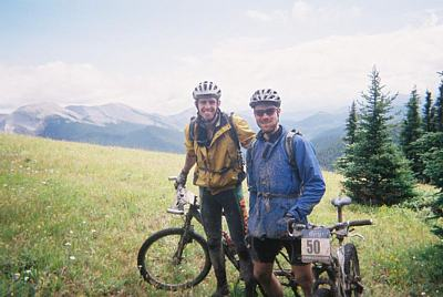 photo of Bart  cycling over the Rocky mountains in Canada