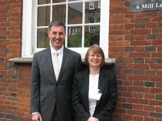 Dr William Banholzer and Prof Lynn Gladden