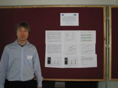 Lino presenting his poster at the Bradford muPP2 meeting