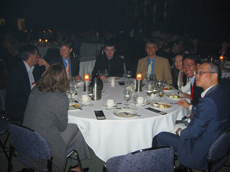 The conference dinner