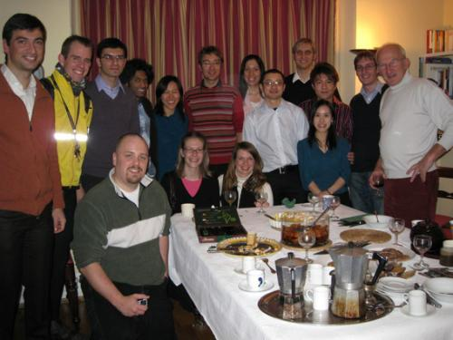 Members of the PFG at the Chrismas social 2008, held at Prof. Mackley's home