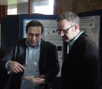 Dr Peter Rodgers and Dr Andrea Ferrari at the CNT meeting