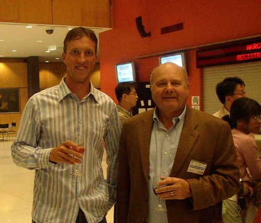 Kris Coventry with Prof. David Boger at the conference