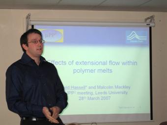 David giving his presentaion at the muPP2 meeting