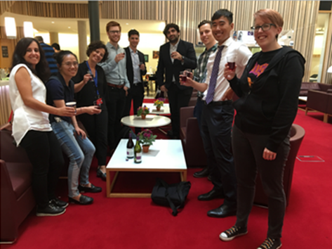2018-2019 course cohort celebrating after their final assessment
