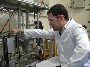 Fernando conducting experiments