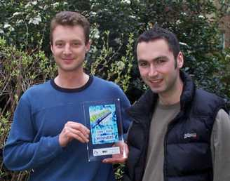 Geoff with  award