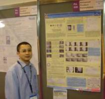 Tri Tuladhar at the congress poster session