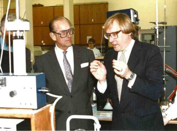 Howard Chase with the Duke of Edinburgh