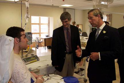 The Prince of Wales visiting Daniel Cooney