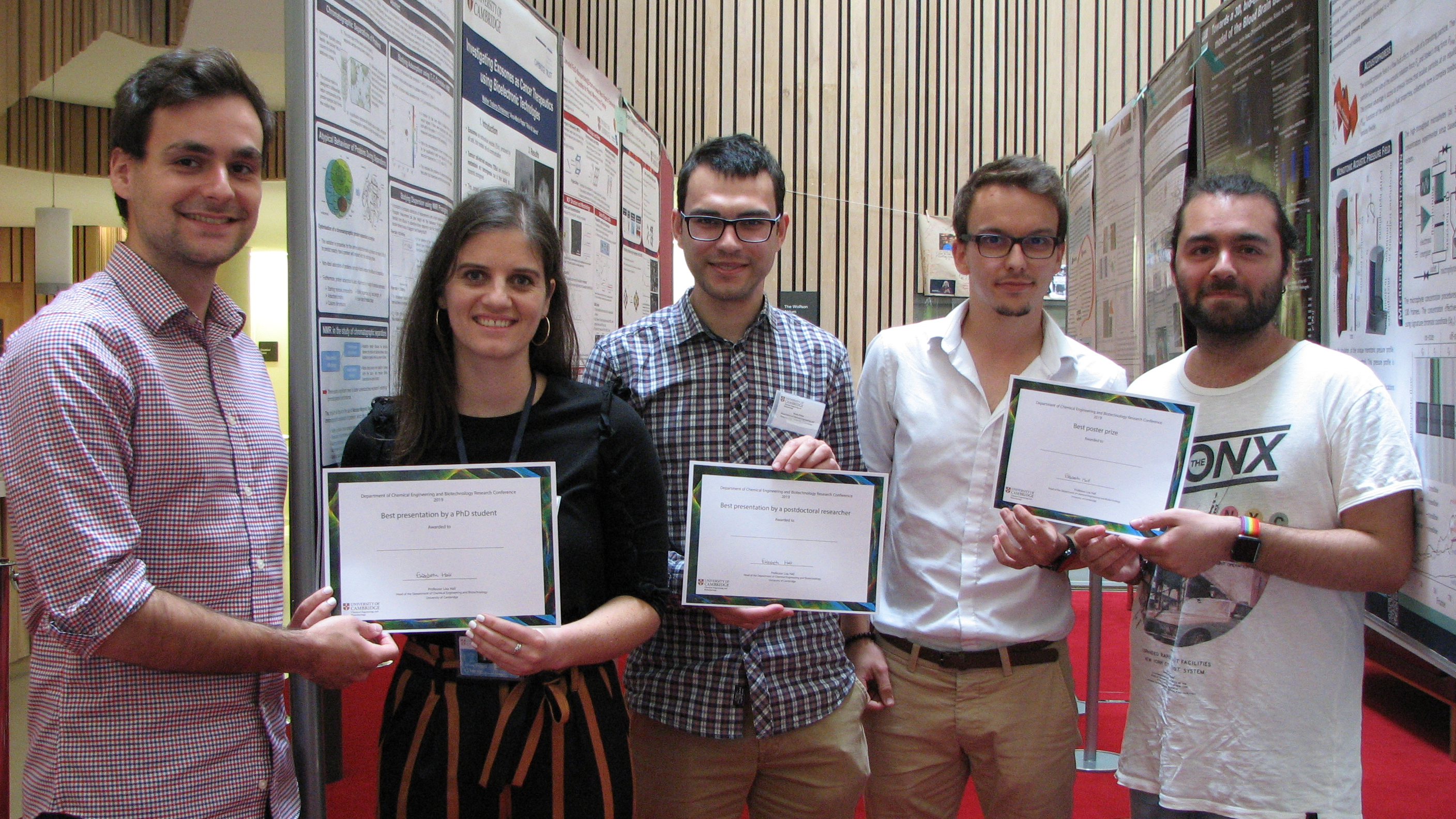 Prize winners from our research conference