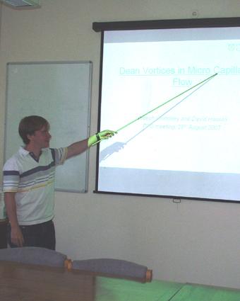 Joe presenting his data