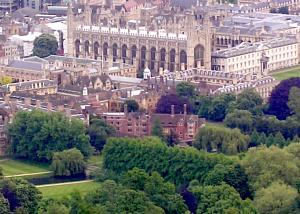 photo of Kings College from a balloon