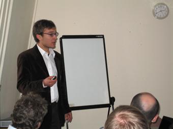 Lino giving his presentation at the muPP2 meeting