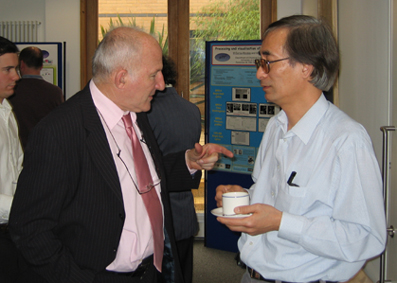 Prof. Mackley in discussion with Dr Choon Chai