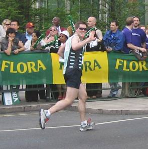 Mark Sankey running the London Marathon
