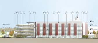 Southern Elevation of our new building in West Cambridge
