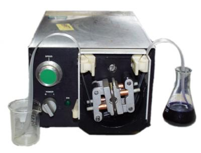 MCF used as the fluid pumping tube with a peristaltic pump