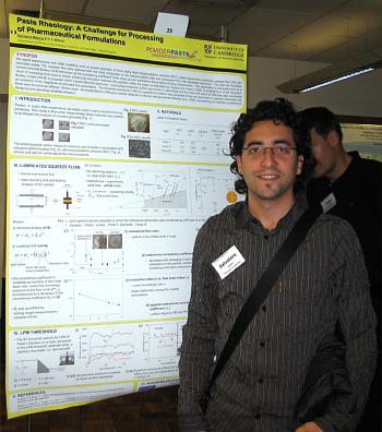Salvatore with his winning  poster