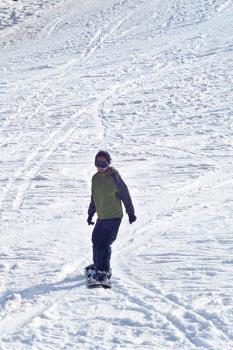 Sandy Snowboarding
