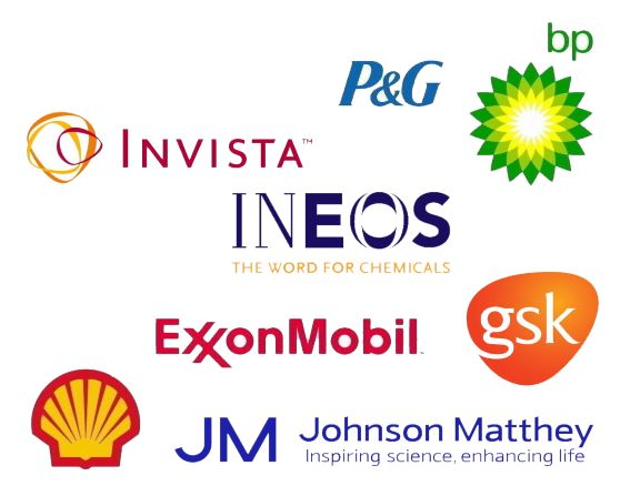 Members of the teaching consortium: P&G, Invista, BP, Ineos, Exxon Mobil, GSK, Shell, Johnson Matthey