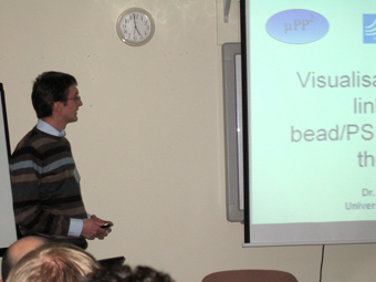 Tim giving his presentation at the muPP2 meeting