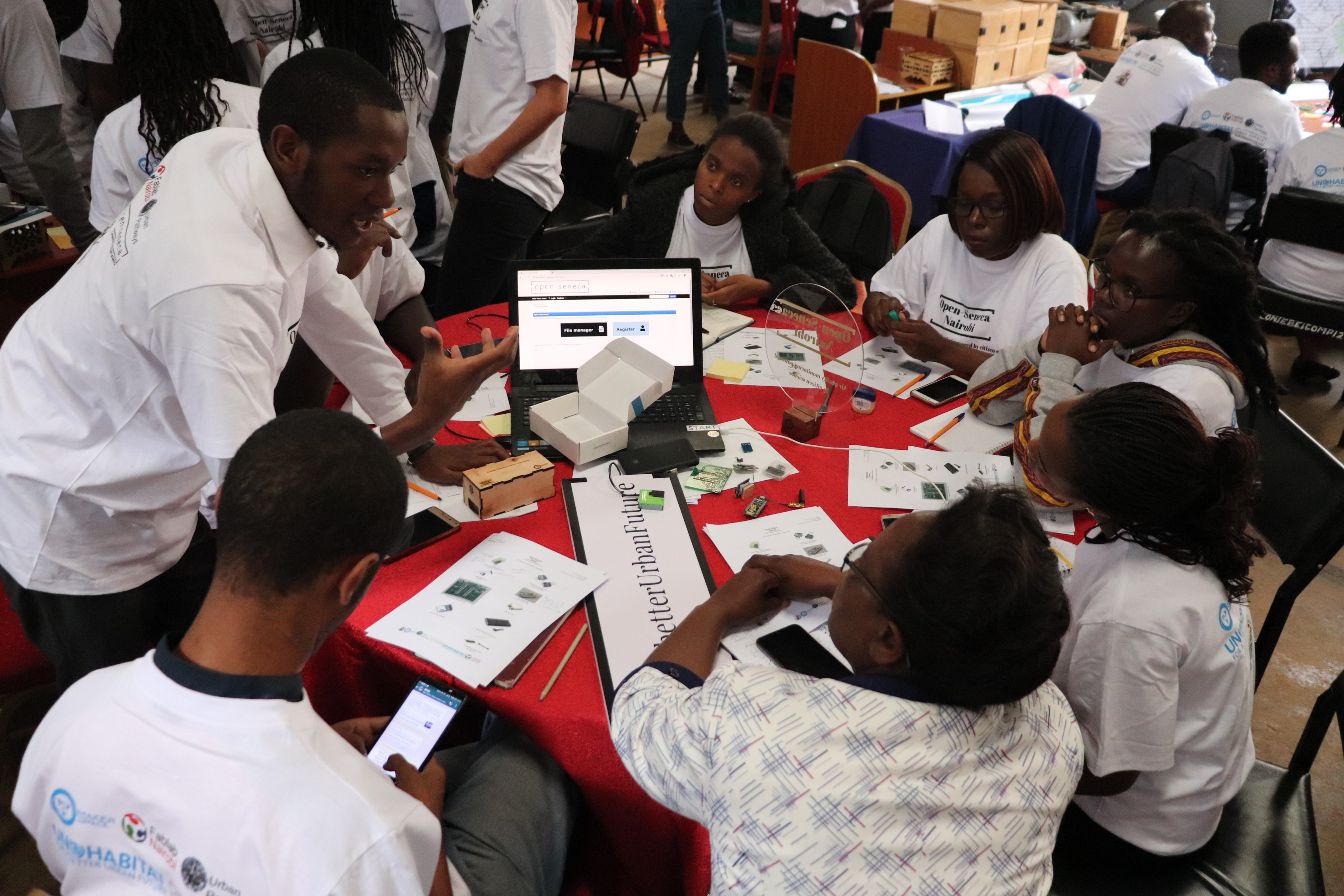 Sensor building workshop at the Makespace in Nairobi