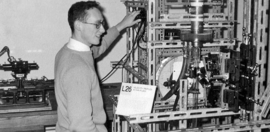 Ron Nedderman in the lab in 1959
