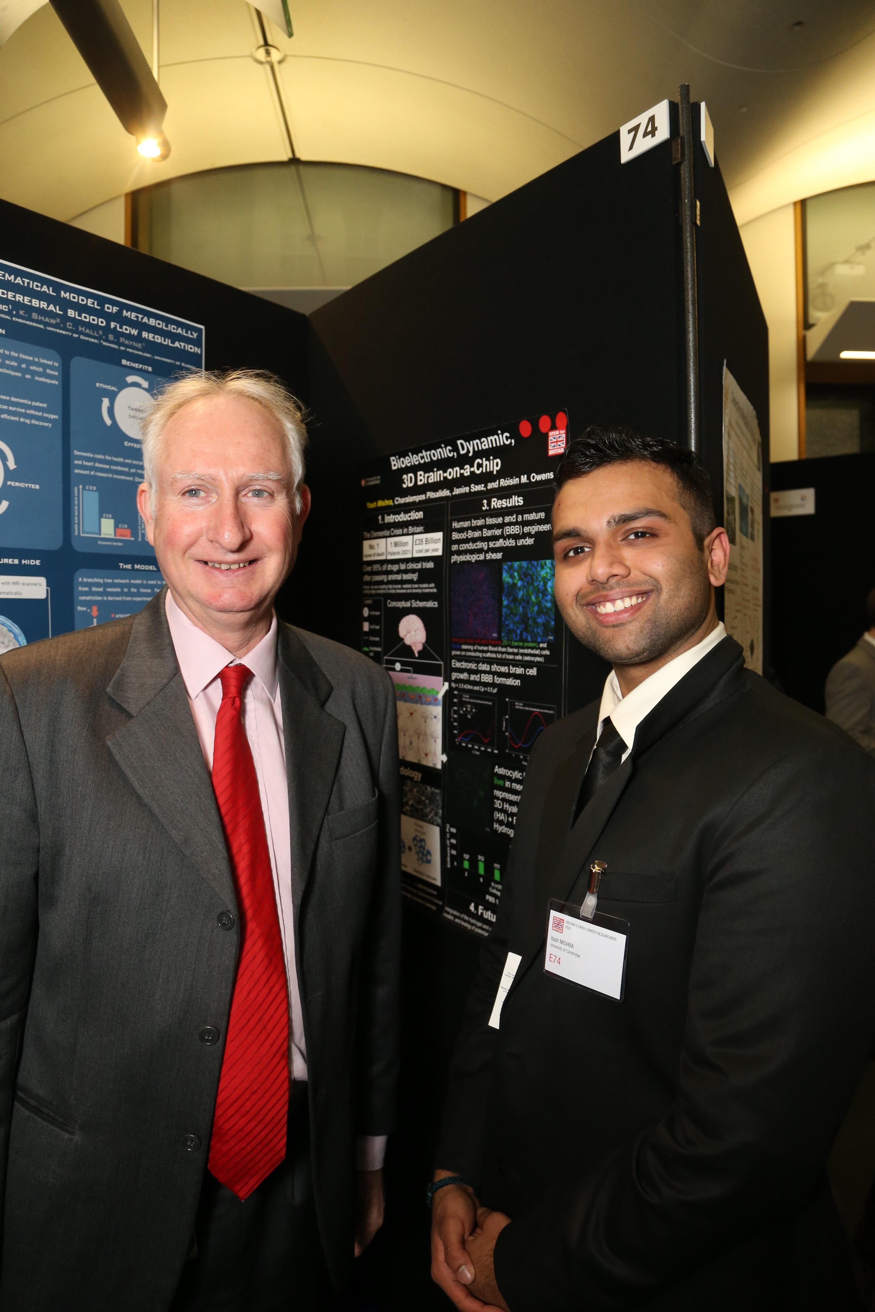 Yash Mishra with Cambridge MP Daniel Zeichner