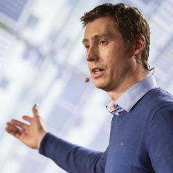 Sam Stranks presenting at TEDX