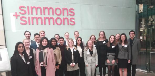 MBE cohort 2019-2020 on IP workshop with Simmons & Simmons