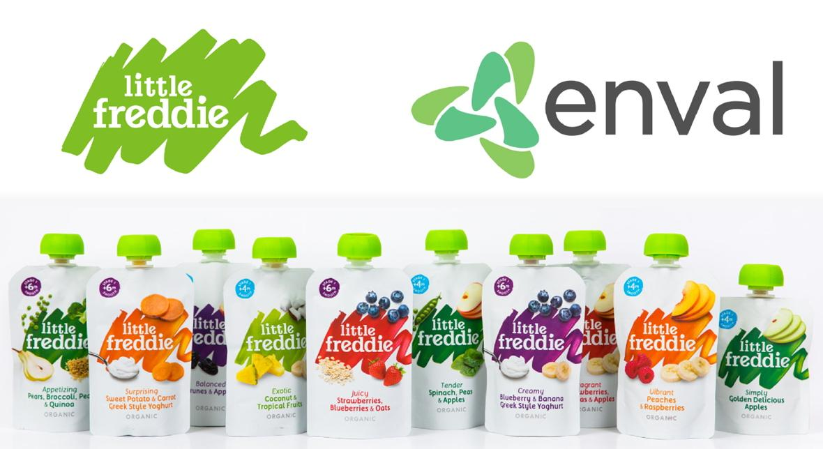 Little Freddie and Enval announce recycling initiative for pouches