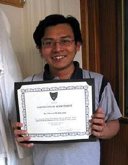 Prize for Edward Ishiyama